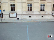 Tracé symbolique des tourelles d'angles du donjon du Temple de Paris