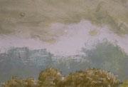 Landschaftserinnerung Himmel I, Acryl auf Papier, ca. 10x15cm, Sandra Hosol