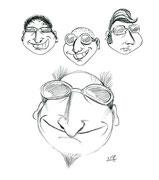 Men Faces - Copyright© 2012 Natascha Stevenson