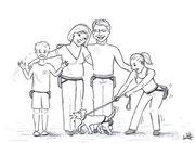 Familie mit Hund - Copyright© 2012 Natascha Stevenson