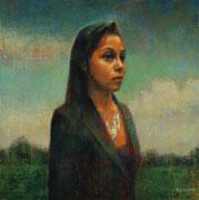 2018 Femme dans un paysage 50x50cm