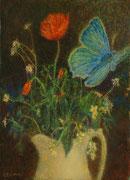 2010 Papillon et coquelicots 4F