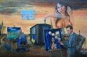 """""""Der Weg des Malers"""" (2014), Öl auf Leinwand 150 x 100 cm"""