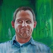 think green (2013), 80 x 80 cm, Öl auf Leinwand