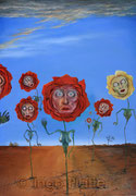 Rosen (2013), 70 x 100 cm, Öl auf Leinwand