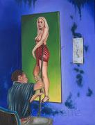 """unvollendet"" 63 x 82 cm Öl auf Leinwand 2014"
