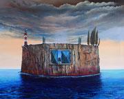 Die Festung (2013), 100 x 80 cm; Öl auf Leinwand