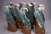 """Trophies""     A commission of 9 sculptures for the Erie Times News given as awards to local Erie, PA businesses."