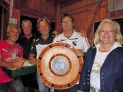 Siegermannschaft Strassenturnier 2016 mit Frau Bürgermeisterin Brigitte Lackner