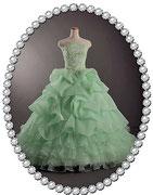 カラ―ドレス ★クリームミントグリーン色で製作 キュートな雰囲気!