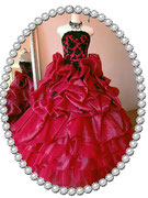 カラ―ドレス ★ボルドー色で製作 シックで大人っぽい雰囲気!