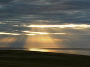 Sonnenuntergang bei Whitehills