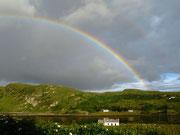 Rainbow over Loch Bracadale, Struan
