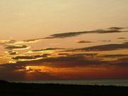 Sonnenuntergang, jeden Tag sieht der Himmel abends anders aus