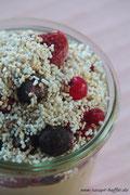 Gepoppter Amaranth rundet das Frühstück ab