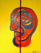 """"""" Geteilt"""" Acryl und Spraylack auf zwei Holzplatten 2x  80x35cm"""