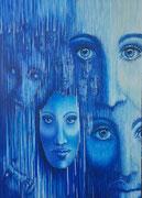"""""""Vergangenheit, Gegenwart, Zukunft 2"""", 140x100 cm, Acryl auf Leinwand, Entstehungsjahr 2020, aus der Serie """"Die Zeiten"""""""