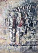 """Zweisam"" Acryl auf Leinwand gespachtelt, 40x60 cm"