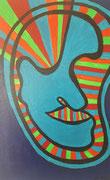 """Köpfe im Licht 1"" Acryl auf Leinwand, 40x30 cm"