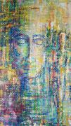 """""""Hope"""" Acryl auf Leinwand gespachtelt 100x70 cm, 2018"""