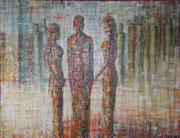 """Ohne Titel"" Acryl auf Leinwand, 100x80 cm"
