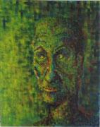 """Mosaik-Mann"" Acryl auf Leinwand in Mosaik-Technik, 100x80 cm"