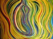 """""""Manifestierung """" Acryl auf Leinwand, 120x160 cm, Entstehungsjahr 2013"""