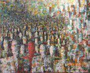 """Einzigartig"" Acryl auf Leinwand gespachtelt, 70x90 cm, Entstehungsjahr 2010"
