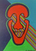 """Köpfe im Licht 2"" Acryl auf Leinwand, 40x30 cm"