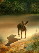 Genia Chef, My Dog, 24 x 18 cm, oil on panel