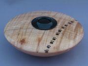 Pet urn. Figured Maple with Ebony lid