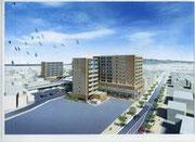 変更後の紺屋町商店街再開発完成イメージ
