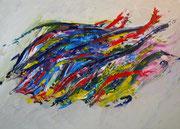 Fische  50x70cm  Acryl auf Leinwand