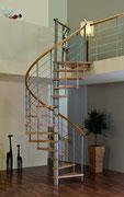 Alpha escalier en spirale avec garde-corps étage
