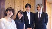 終演後、出演者と譜めくりをお手伝いをしてくれたAsakoちゃんと、長崎からお越しのKumikoさんです!