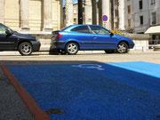 Parken in bleu