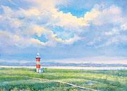 水彩画                             追憶の浜辺