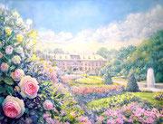 水彩画                             バラの追憶