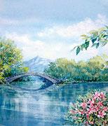 水彩画                           大沼公園