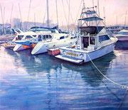 水彩画                             北のマリーナ