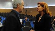 Con Carmen Alborch, senadora PSOE