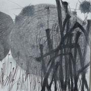 o.t., grafit und buntstift auf papier, 25x25 cm