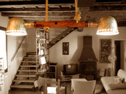 """2007 """"LADY-B""""  ultima lampada della prima fase di creazioni- anno 2007- illumina tutt'ora il mio tavolo da pranzo"""