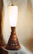 """1998 """"GIRRRMI""""   un olivona di vetro, facente parte di una vecchia lampada, abbandonata da uno sconsiderato, ha innescato la creazione di questo monumento luminoso dedicato al popolare frullatore che ha nutrito la mia infanzia"""