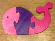 puzzle baleine rose 19 €