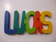 prénom puzzle, 8 € / lettre (peut être dégressif pour les grands prénoms)