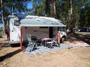 Auf dem Camping Madalena