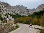 Marsch zum Nationalpark Paklenica