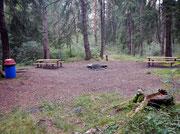 Schöne PickNick Plätze im Wald