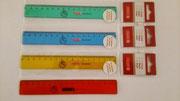 【左利き用定規(17㎝)】 右から目盛りが始まる左利き対応定規17㎝タイプです。  各¥330(税込)
